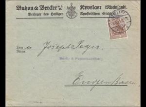 Germania: Brief Kevelar, Verleger Apostolisches Buchs u. Kriegers Festbuch 1915