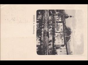 Germania: Drucksache Postkarte Berlin auf Ansichtskarte Kanern b. Ronneburg 1914