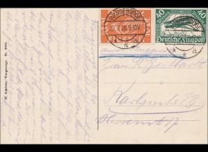 Infla: Flugpostmarken auf Ansichtskarte Wangerode 1920