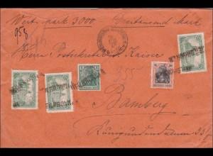 Germania: Wertbrief von Heilbronn nach Bamberg 1920