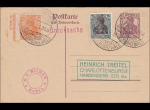 Germania: Sonderstempel Bad Liebenzell - Luftkurort 1922 - HAN NUMMER !!!!