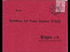 Germania: Brief von Aach an die Hegauer Zeitung 1912