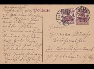 Germania: Postkarte aus Mosel 1920
