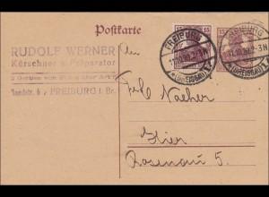 Germania: Postkarte aus Freiburg 1920