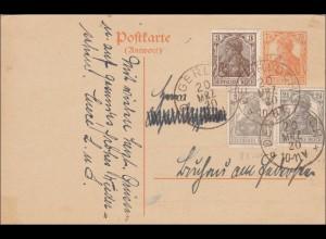 Germania: Ganzsache von Degerloch 1920