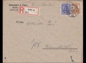Germania: Brief von Berlin nach Grimmitschau / Sachsen 1917