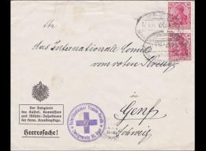 Germania: Heeressache Vaterländischer Frauen Verein nach Genf - Rotes Kreuz 1918