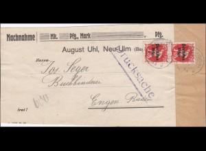 Inflation: Adressteil Nachnahme Drucksache von Neu-Ulm