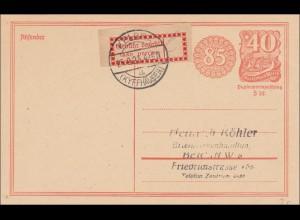 Inflation: Ganzsache von Kebra (Kyffhäuser) nach Berlin 25.9.1923