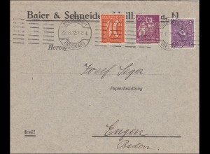 Inflation: Brief von Heilbronn am 22.8.1922