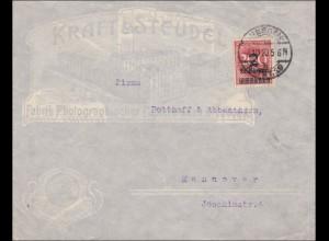 Inflation: Brief von Dresden nach Hannover 4.10.1923
