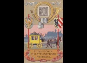 Inflation: Ganzsache Deutscher Philatelistentag 1921 Nürnberg