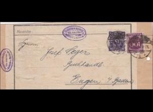 Inflation: Adressteil von Adelsheim 1923