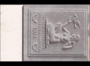 Inflation: Ganzsache Postwertzeichenausstellung 1922 mit Sonderstempel