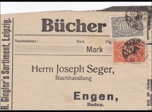 Inflation: Adressteil Buchsendung von Leipzig