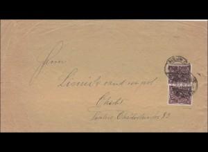 Inflation: Brief von Berlin nach Charlottenburg , Infla geprüft MiNr. 231 MeF