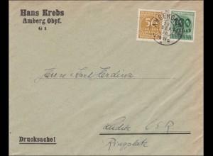 Inflation: Drucksache Brief von Amberg nach Luditz CSR