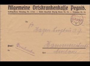 Inflation: Brief der AOK Pegnitz nach Hammerschraft 29.8.1923