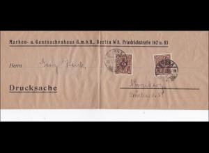 Inflation: großes Streifband von Berlin nach Nürnberg 6.1923