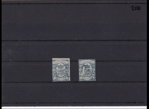 Oldenburg, MiNr. 12a +12b, gestempel, jeweils signiert Stegmüller BPP