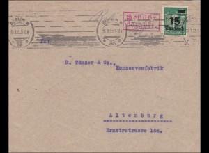 Inflation: Brief von Berlin nach Altenburg - Gebühr bezahlt - 26.9.1923