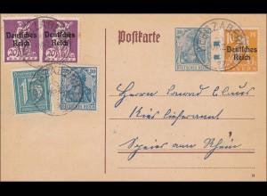Inflation: Ganzsache von Bergzabern 1922