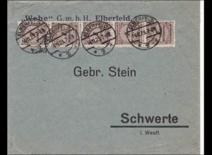 Inflation: Brief von Elberfeld nach Schwerte 14.11.1923