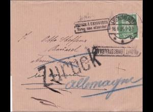 Weimar: Streifband von Ludwigslust nach Belgien und zurück 1926
