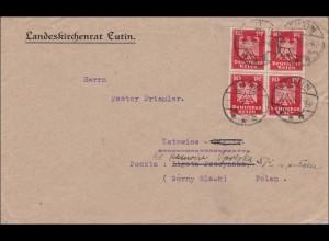 Weimar: Brief vom Landkirchenrat Eutin nach Katowice 1926