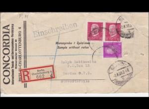 Weimar: WARENPROBE von Berlin nach Südwestafrika 1930