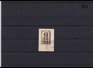 Litauen, MiNr. 7K gestempelt auf kleinem Briefstück, best signiert Krischke