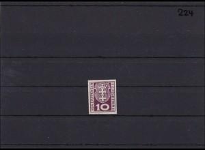 Danzig, Porto MiNr. 1 a U ** postfrisch, selten ungezähntes Luxusstück