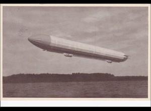 III. Reich: Postkarte Sonderstempel Weingarten 1939 großem Luftschiff Zeppelin