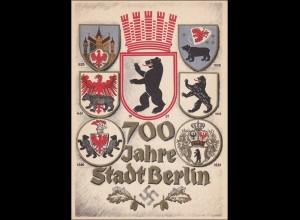 III. Reich: Ansichtskarte 700 Jahre Berlin 1937 - Berlin fahrbares Postamt