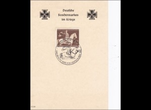 III. Reich: Braunes Band 1943 mit Sonderstempel