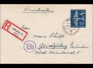 III. Reich: Einschreiben von München nach Geiselgarteig 1944