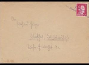 III. Reich: Brief von Poremby nach Kaffel