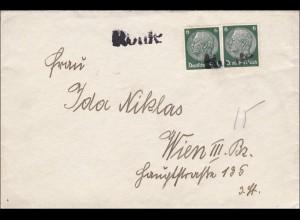 III. Reich: Brief nach Wien