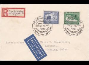 III. Reich: R-Zettel Luftschiffwerft Friedrichshafen, nach Polen 1938