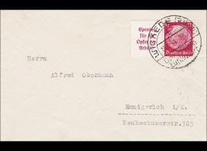 III. Reich: Brief von Wickede nach Ernigerloch 1934