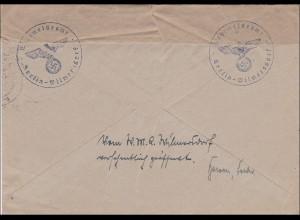 III. Reich: Brief Feldpost Wehrmeldeamt Berlin - Doppelverwendung 1940