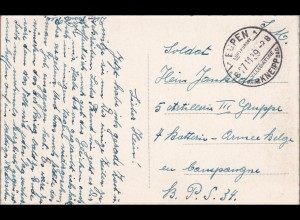III. Reich: Ansichtskarte Eupen 1939