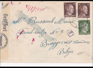 III. Reich: Brief Flugzeugbau Darmstadt nach Belgien mit Zensur 1942
