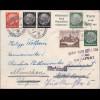 III. Reich: Brief von München nach Budapest/Ungarn 1940 - Zensur