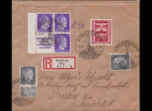 III. Reich: Einschreiben von Straßburg nach Driesen 1943- S288