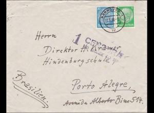III. Reich: Brief von Hannover nach Brasilien 1936