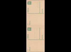 Ganzsache P165 I mit Antwortkarte