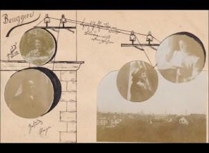 Ganzsache individuell gestaltet Beuggen nach Basel 1904, BahnpostSingen-Basel