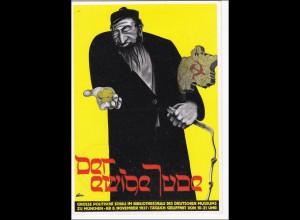 Ganzsache und Propagandakarte: Der ewige Jude 1937 - München
