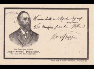Ganzsache Generalpostmeister von Berlin 1897 nach Berlin